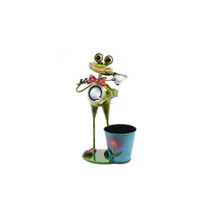 Садовый фонарь с кашпо Лягушка