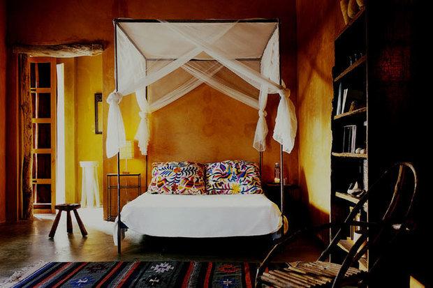 Фотография: Спальня в стиле , Декор интерьера, Дизайн интерьера, Цвет в интерьере, Краска – фото на InMyRoom.ru