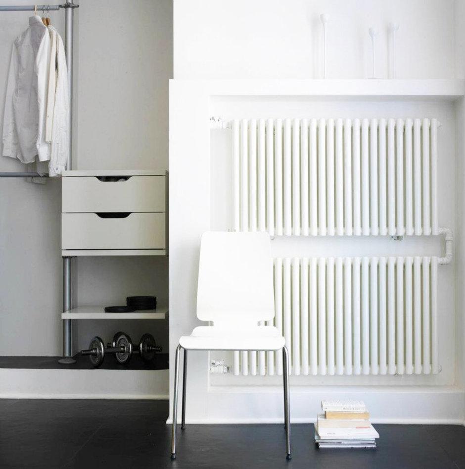 Фотография: Мебель и свет в стиле Лофт, Современный, Квартира, Цвет в интерьере, Дома и квартиры, Белый – фото на InMyRoom.ru