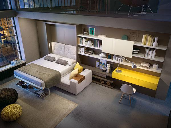Фотография:  в стиле , Гостиная, Спальня, Квартира, Студия, Гид, 1 комната – фото на InMyRoom.ru