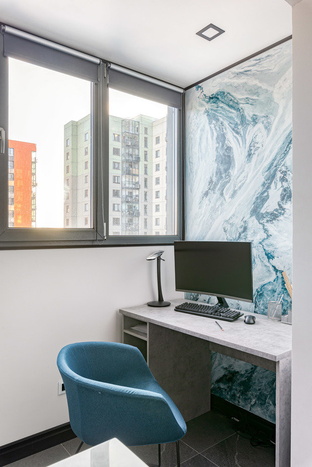 Фотография: Балкон в стиле Современный, Квартира, Проект недели, Москва, 3 комнаты, 40-60 метров, Юлия Левина – фото на INMYROOM