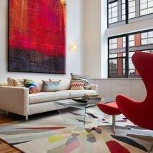 Фотография: Гостиная в стиле Современный, Декор интерьера, Декор, абстрактная живописть в интерьере, абстрактное искусство в интерьере – фото на InMyRoom.ru