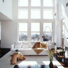 Фотография: Гостиная в стиле Скандинавский, Дизайн интерьера, Большие окна – фото на InMyRoom.ru