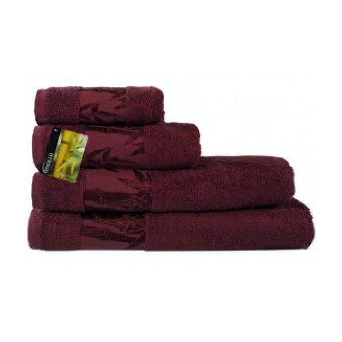 Полотенце Бамбук 70х140 бордовый