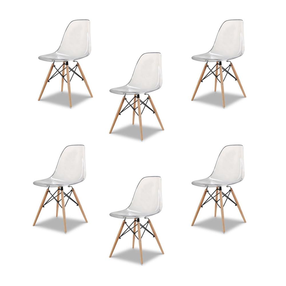 Купить Набор из шести стульев с прозрачным сидением, inmyroom, Китай