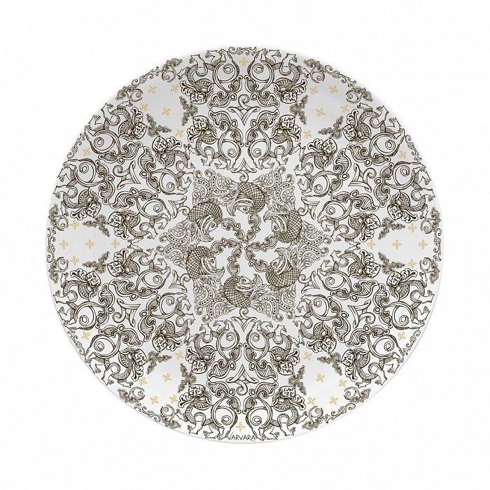 Тарелка Varvara из костяного фарфора
