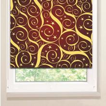 Рулонные шторы: Завитки в звездах