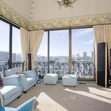 Фотография: Гостиная в стиле Классический, Современный, Квартира, Терраса, Дома и квартиры, Камин, Пентхаус, Ар-деко – фото на InMyRoom.ru