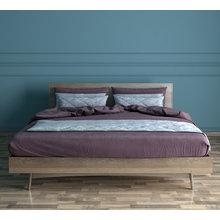 Кровать двуспальная Bruni из массива и шпона ясеня 160х200