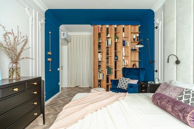 Фотография: Спальня в стиле Современный, Квартира, Проект недели, 2 комнаты, 40-60 метров, Татьяна Петрова, Ego Design – фото на INMYROOM