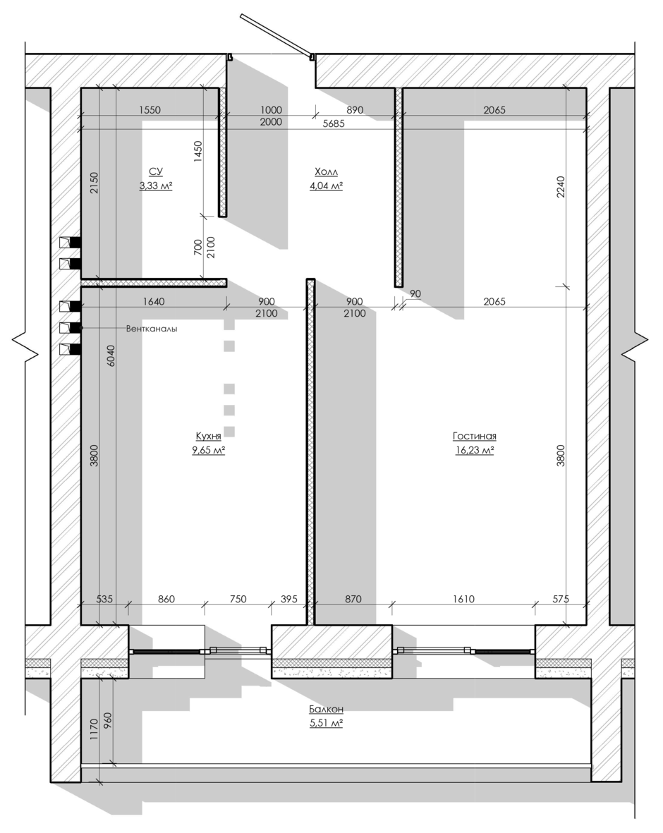 Фотография: Планировки в стиле , Скандинавский, Малогабаритная квартира, Квартира, Проект недели, Москва, Кирпичный дом, 1 комната, до 40 метров, Rerooms.ru – фото на InMyRoom.ru