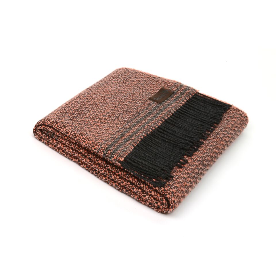 Плед Marzotto Texture  из хлопка и шерсти мериноса с добавлением акрила