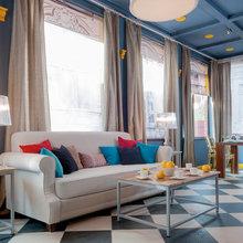 Фотография: Гостиная в стиле Современный, Эклектика, Декор интерьера, Декор дома, IKEA, Ligne Roset, Kartell, Веранда – фото на InMyRoom.ru