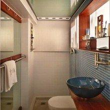 Фотография: Ванная в стиле Лофт, Малогабаритная квартира, Квартира, Мебель и свет, Эко – фото на InMyRoom.ru