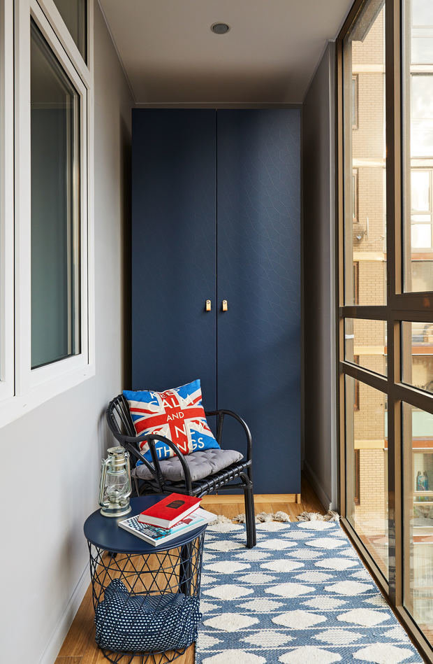 Фотография: Балкон в стиле Современный, Квартира, Студия, Проект недели, Долгопрудный, 1 комната, до 40 метров, Марина Каралкина – фото на INMYROOM
