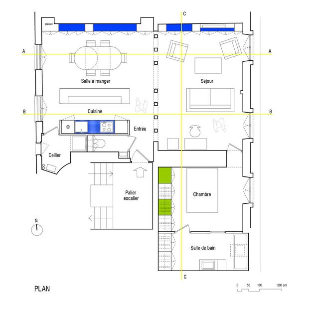 Фотография: Планировки в стиле , Квартира, Франция, Мебель и свет, Дома и квартиры, Париж – фото на InMyRoom.ru