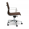 Charles  Ray Eames  Кресло Eames Style Ribbed Office Chair EA 117 кофейная кожа