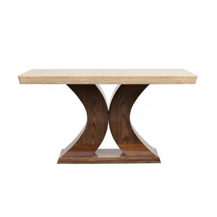 Обеденный стол деревянный коричневый