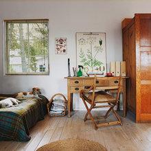 Фотография: Спальня в стиле Кантри, Дом, Дома и квартиры, Плетеная мебель, Дом на природе – фото на InMyRoom.ru