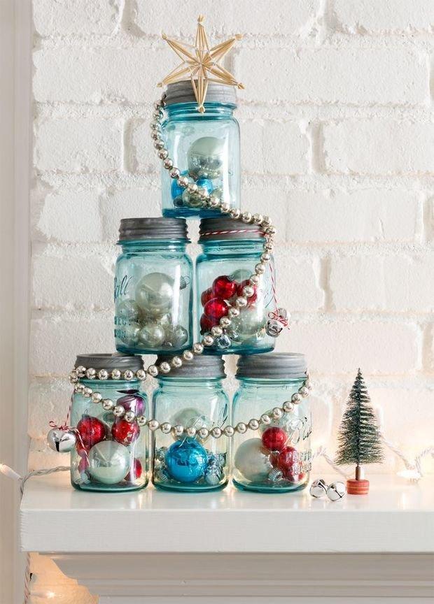 Фотография:  в стиле , Декор интерьера, DIY, Декор, Новый Год, новогоднее оформление интерьера – фото на InMyRoom.ru