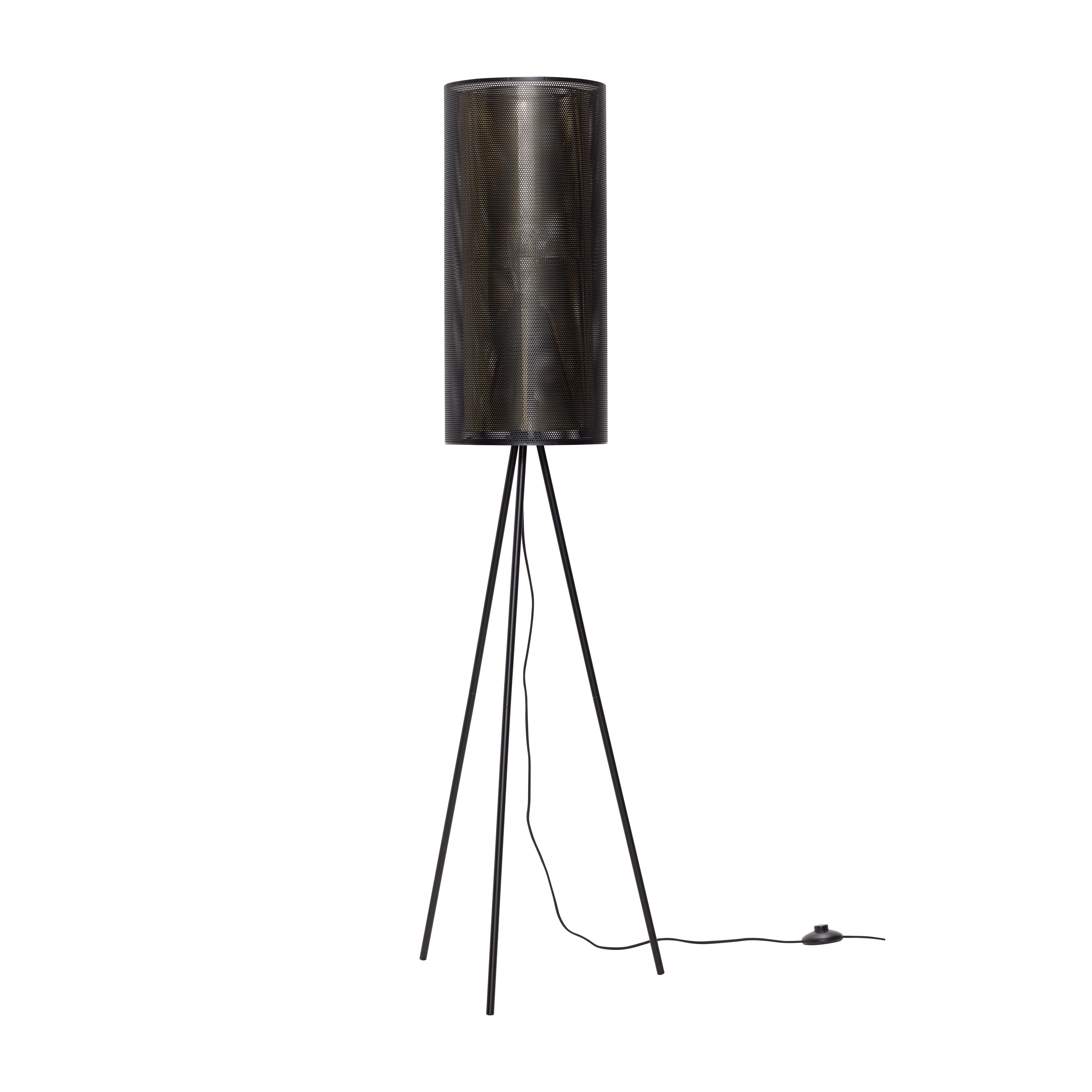 Напольная лампа серого цвета