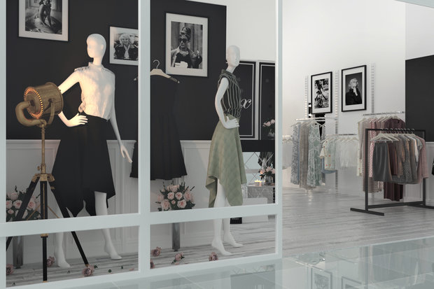 Фото из портфолио WOMEN'S CLOTHING STORE   HOLLYWOOD HISTORY – фотографии дизайна интерьеров на INMYROOM