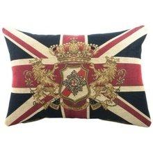 Большая королевская подушка с британским флагом