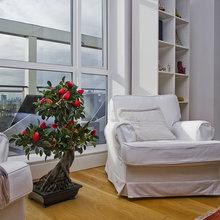 Фотография: Гостиная в стиле Современный, Декор интерьера, Декор дома, Советы, Большие окна, Панорамные окна – фото на InMyRoom.ru