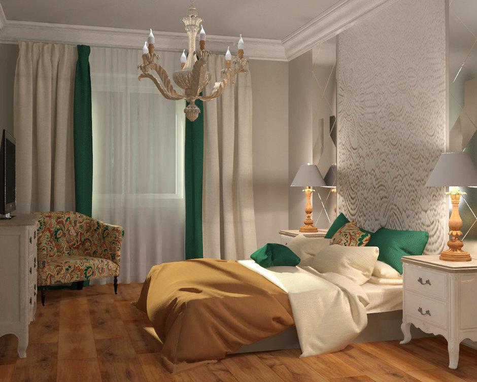 Фотография: Спальня в стиле Кантри, Классический, Квартира, Проект недели, Москва, Мария Наседкина, Илья Насонов, Nasonov DesignWerke, Сталинка – фото на InMyRoom.ru