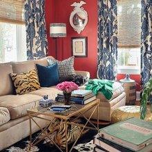Фотография: Гостиная в стиле Кантри, Эклектика, Декор интерьера, Текстиль, Окна – фото на InMyRoom.ru