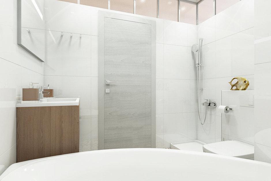 Фотография: Ванная в стиле Лофт, Современный, Эклектика, Квартира, Минимализм, Проект недели – фото на InMyRoom.ru