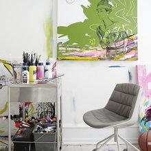 Фотография: Кабинет в стиле Современный, Скандинавский, Квартира, Дания, Цвет в интерьере, Дома и квартиры, Белый – фото на InMyRoom.ru