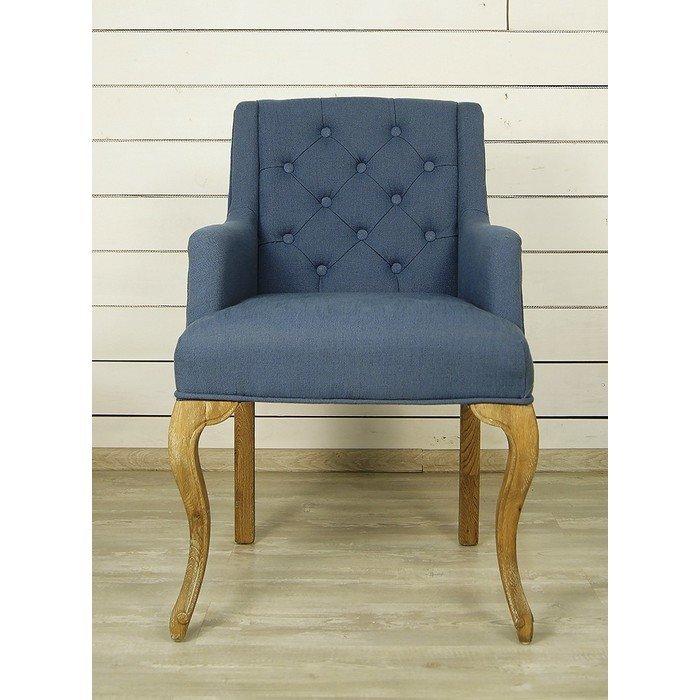 Синий стул для гостиной (Классицизм)