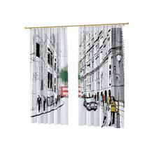 Дизайнерские фотошторы: Нарисованный город