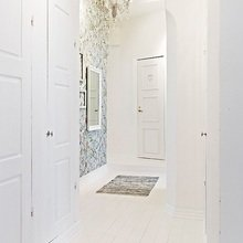 Фотография: Прихожая в стиле Скандинавский, Квартира, Швеция, Цвет в интерьере, Дома и квартиры, Белый – фото на InMyRoom.ru