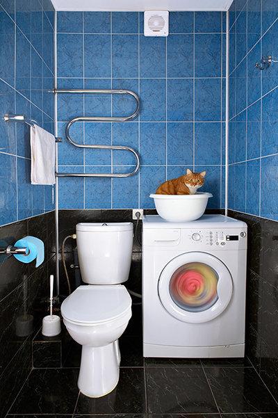 Фотография: Ванная в стиле , Декор интерьера, Квартира, Стиль жизни, Советы, Встраиваемая техника – фото на InMyRoom.ru
