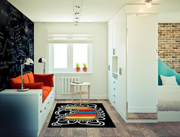 Фотография: Спальня в стиле Лофт, Современный, Скандинавский, Гид – фото на InMyRoom.ru