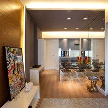 Фотография: Кухня и столовая в стиле Современный, Малогабаритная квартира, Квартира, Дома и квартиры, Бразилия, Сан-Паулу, Перегородки – фото на InMyRoom.ru