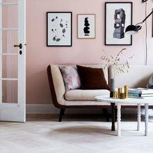 Фотография: Гостиная в стиле Скандинавский, Декор интерьера, Декор, Розовый – фото на InMyRoom.ru