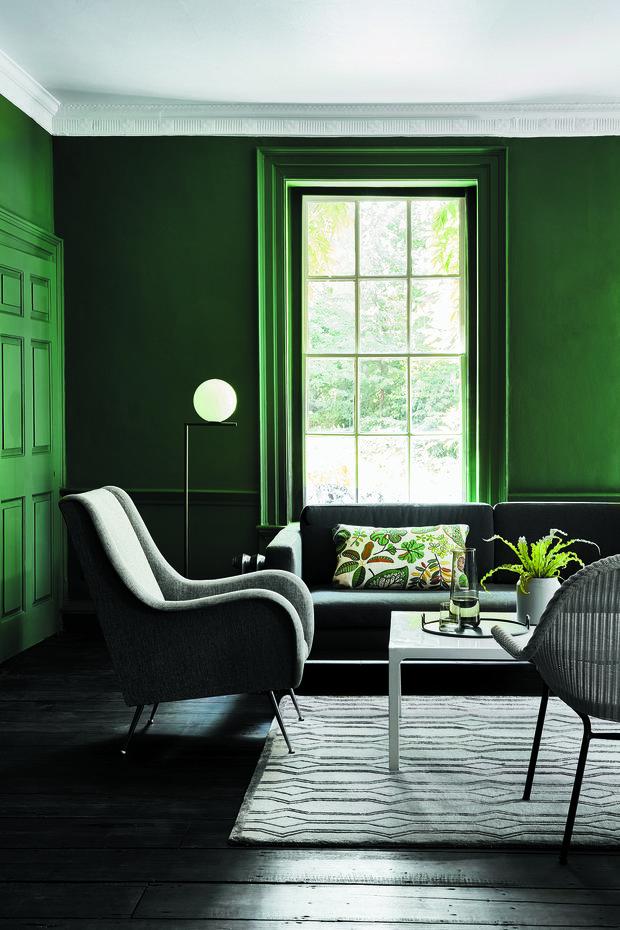 Фотография: Гостиная в стиле Эко, Цвет в интерьере, Краски, Интервью, цветовая гамма интерьера, Как выбрать цвет краски для стен, Little Greenе, Дэвид Моттерсхед – фото на INMYROOM