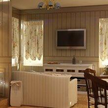 Фотография: Гостиная в стиле Кантри, Современный, Кухня и столовая, Дом, Дома и квартиры – фото на InMyRoom.ru