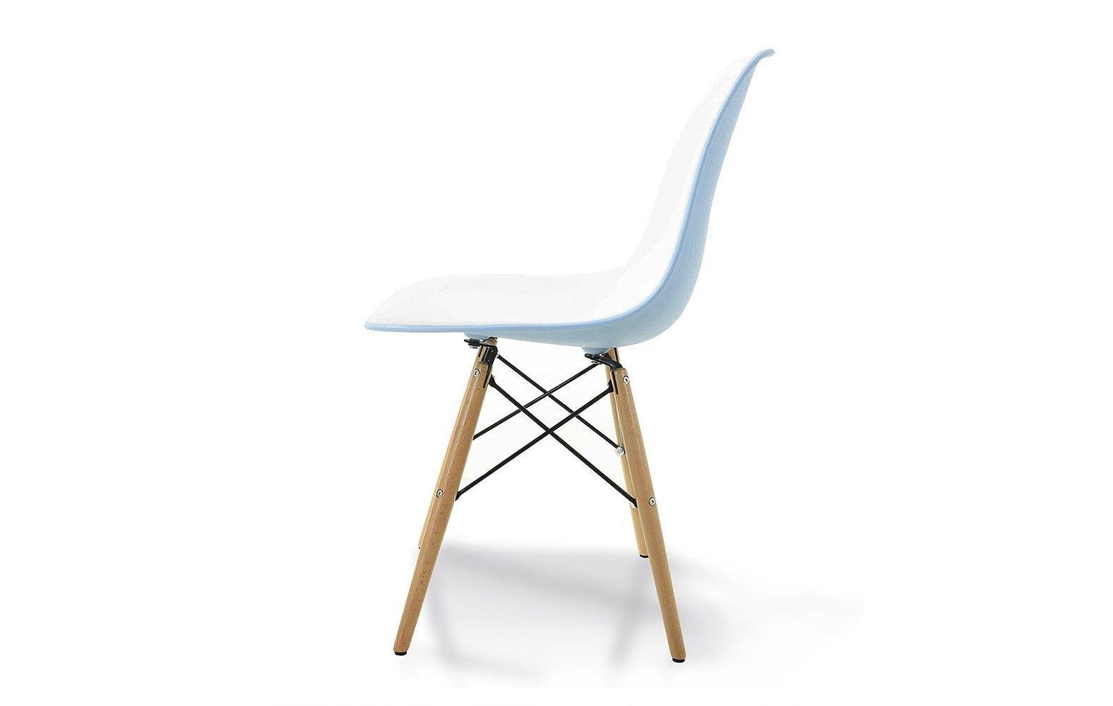 inmyroom / Комплект из шести стульев с деревянными ножками бело-голубого цвета