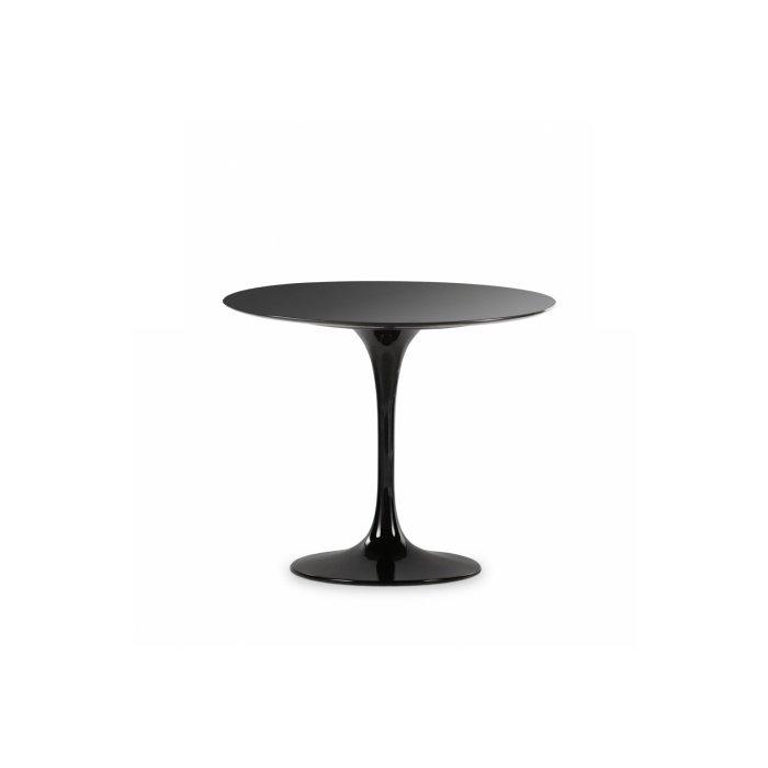 Круглый обеденный стол Tulip со столешницей из черного гранита