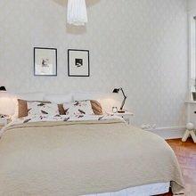 Фотография: Спальня в стиле Скандинавский, Квартира, Швеция, Цвет в интерьере, Дома и квартиры, Белый, Шебби-шик – фото на InMyRoom.ru