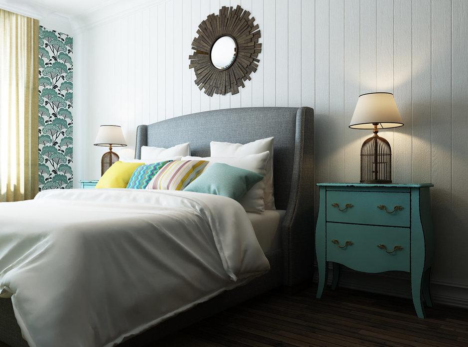 Фотография: Спальня в стиле Прованс и Кантри, Квартира, Проект недели, Эко – фото на InMyRoom.ru