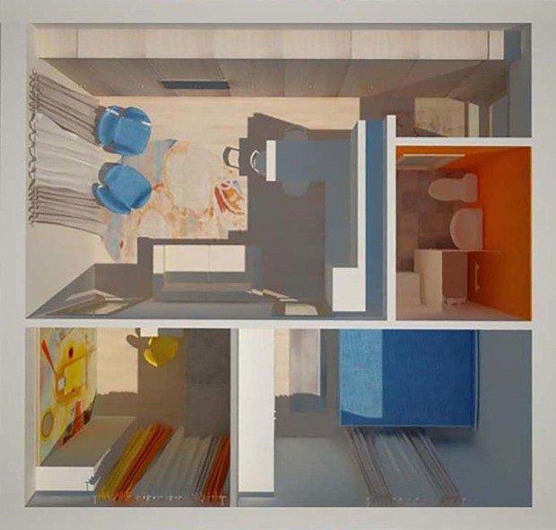 Фотография:  в стиле , Малогабаритная квартира, Перепланировка, Светлана Гусарова, однушка в доме серии 1-511, идеи обустройства однушки, дизайн угловой однушки, перепланировка угловой однушки, планировка угловой однокомнатной квартиры – фото на InMyRoom.ru
