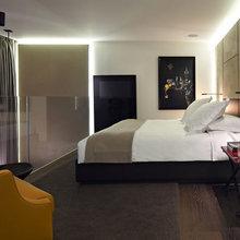Фотография: Спальня в стиле Современный, Квартира, Дома и квартиры, Международная Школа Дизайна – фото на InMyRoom.ru