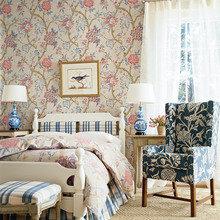 Фотография: Спальня в стиле Кантри, Декор интерьера, Декор дома, Обои – фото на InMyRoom.ru