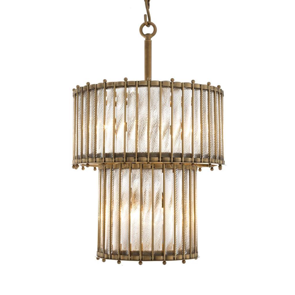Купить Подвесной светильник Tiziano Brass из рифленых стеклянных трубок, inmyroom, Китай