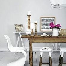 Фотография: Кухня и столовая в стиле Скандинавский, Квартира, Мебель и свет, Советы – фото на InMyRoom.ru